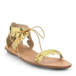 Loeffler Randall Metallic Marmy Scalloped Sandals